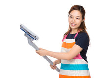 Housewife hold with vacuum Stock Photography