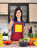 Housewife holding carro Royalty Free Stock Images