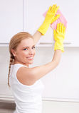 Housewife at home Stock Image
