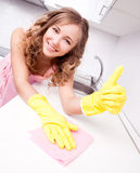 Housewife at home Royalty Free Stock Photos