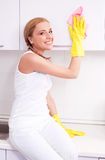 Housewife at home Royalty Free Stock Image