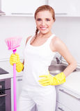 Housewife at home Stock Photography