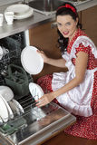 Housewife at home Royalty Free Stock Photography