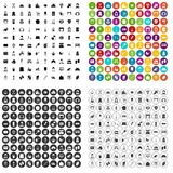 100 housewife icons set vector variant. 100 housewife icons set vector in 4 variant for any web design isolated on white Royalty Free Stock Photo