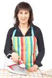 Housewife ironing Stock Image