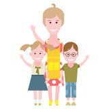 Housewife with kids Stock Photography
