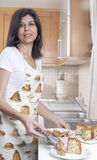 Housewife in the kitchen royalty free stock images