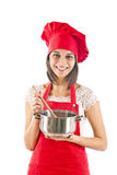 Housewife in the kitchen Stock Photos