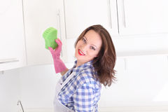 Housewife in kitchen Royalty Free Stock Photography