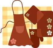 Housewife kitchet set ,  illustration-1 Stock Image