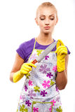 Housewife and knife Stock Image