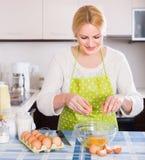 Housewife making dough Stock Photos