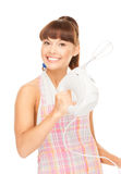 Housewife with mixer Stock Photos