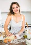 Housewife preparing breakfast Stock Image