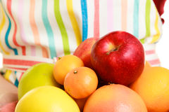 Housewife or seller offering healthy fruits isolated Stock Photography
