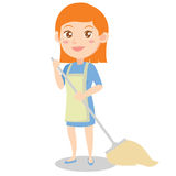 Housewife style design character cartoon Stock Photography