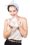 Housewife with teapot Stock Photo