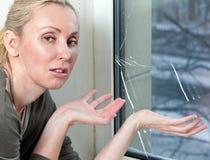 The housewife is upset, Stock Image