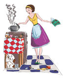 Housewife vector illustration Stock Images