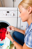 Housewife washing Royalty Free Stock Image