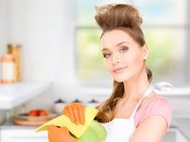 Housewife washing dish Stock Photo