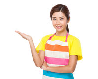 Free Housewife With Hand Present Stock Photo - 45194230