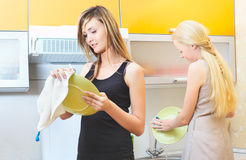 Housewifes heureux Photographie stock