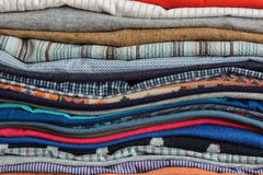 Housewives worries. Neatly folded clothing after washing and ironing Royalty Free Stock Image