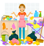housework Photo libre de droits