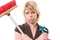 Housework aborrecido Imagens de Stock Royalty Free
