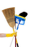 Housework - Broom, mop, duster Stock Photography