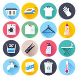 Housework and Cleaning Flat Icon Set Royalty Free Stock Photo
