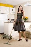 Housework and cocktails Royalty Free Stock Photo