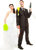 Housework concept and married couple. Royalty Free Stock Photo