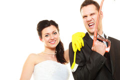 Housework concept and married couple. Royalty Free Stock Photos