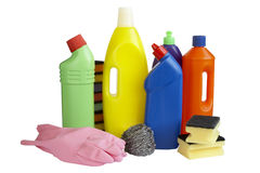Housework dos líquidos de limpeza da higiene Imagem de Stock Royalty Free