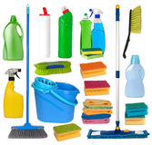 Housework equipment. Isolated on white background royalty free stock image