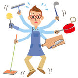 Housework and husband Royalty Free Stock Photo