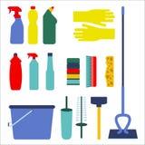 Housework icon set Stock Photos