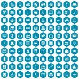 100 housework icons sapphirine violet. 100 housework icons set in sapphirine hexagon isolated vector illustration vector illustration
