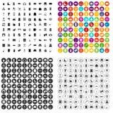 100 housework icons set vector variant. 100 housework icons set vector in 4 variant for any web design isolated on white vector illustration