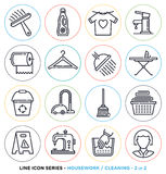 Housework line icons set Royalty Free Stock Image