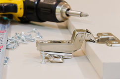 Housework. Minor repairs, home hand tools and furniture details stock photography