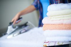 During housework stock image