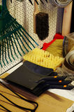 Housework tools. Still life shop Stock Images