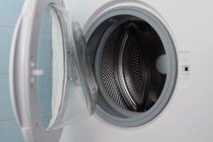 Housework washing. Washing machine ready to do a wash Stock Photos