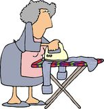 Housework3. This illustration that I created depicts a woman ironing a shirt Royalty Free Stock Photography