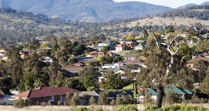 Housing. In a rural town in Australia which continues to grow Stock Image