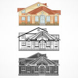 Housing architecture three Royalty Free Stock Image