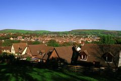 Housing area. A view of a housing area in wales, united kingdom Stock Photography